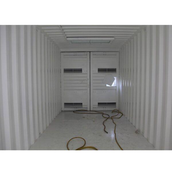 Portable blasting container