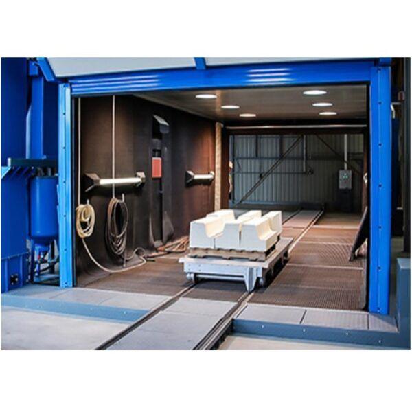 industrial workshop blast room