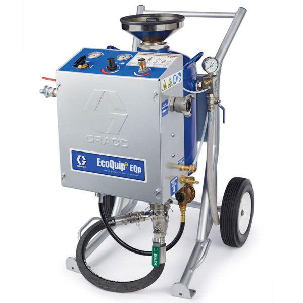 Graco eqoquip ii eqp mini vapor blasting machine mobile wheels cart abrasive wet sale hire