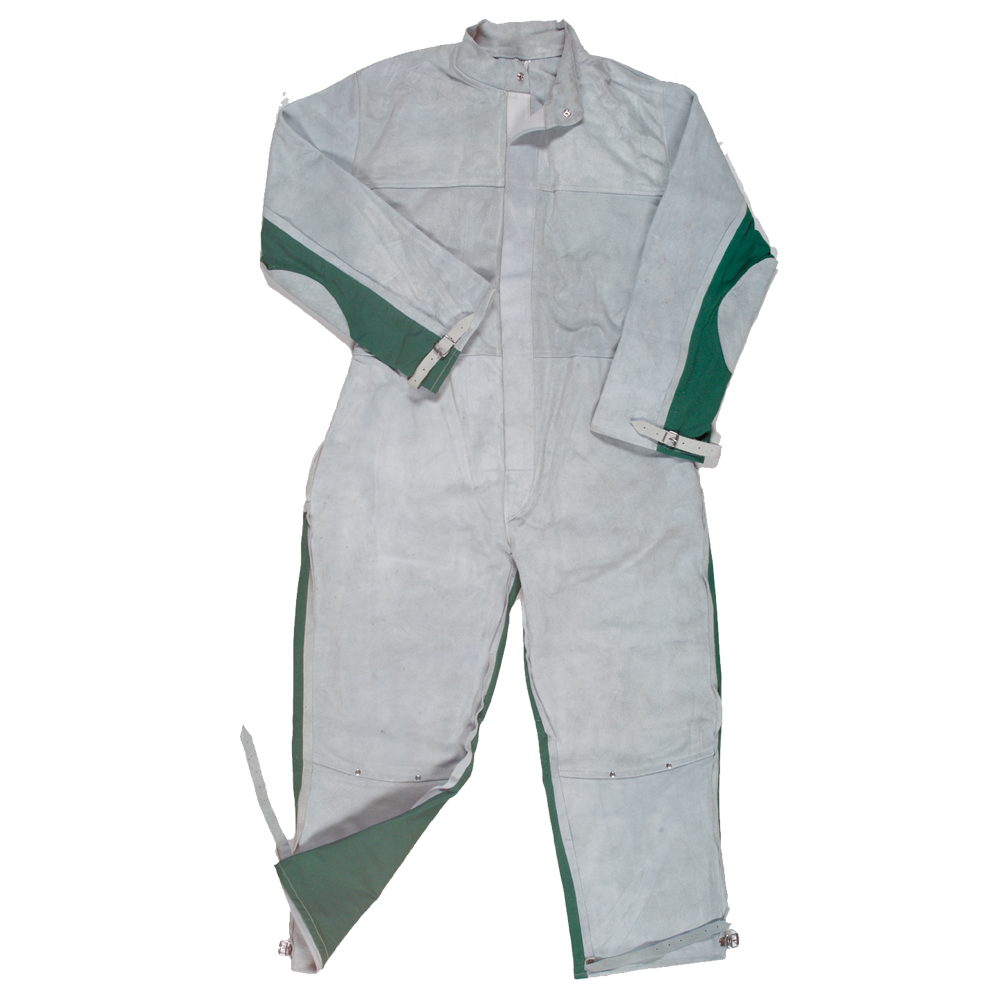 Leather Fronted Blast Suit Coveralls