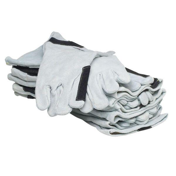 rpb premium heavy duty grey leather blasting gloves gauntelet style sale
