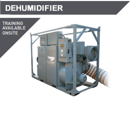 dehumidifier units and equipment blasting painting hire