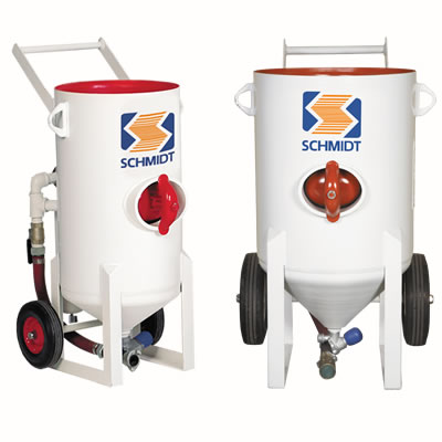 schmidt contractor garnet abrasive blast machines pots sale hire