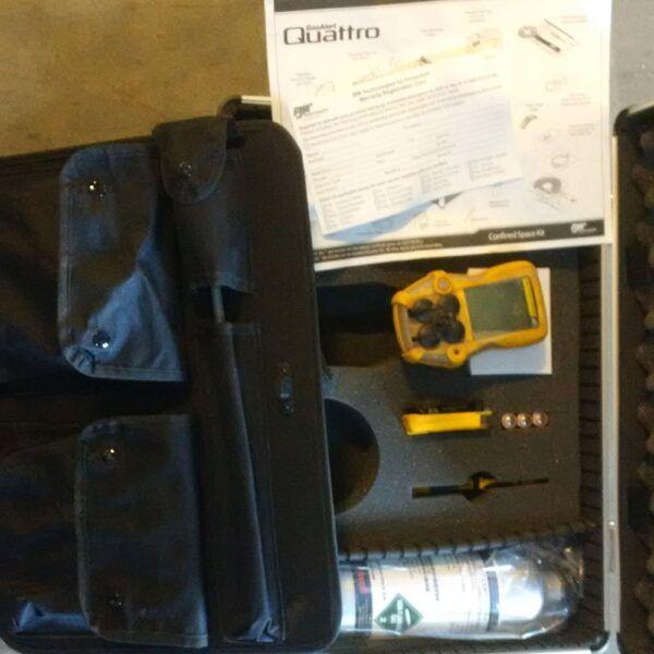 used gasalert quattro 4 gas detector